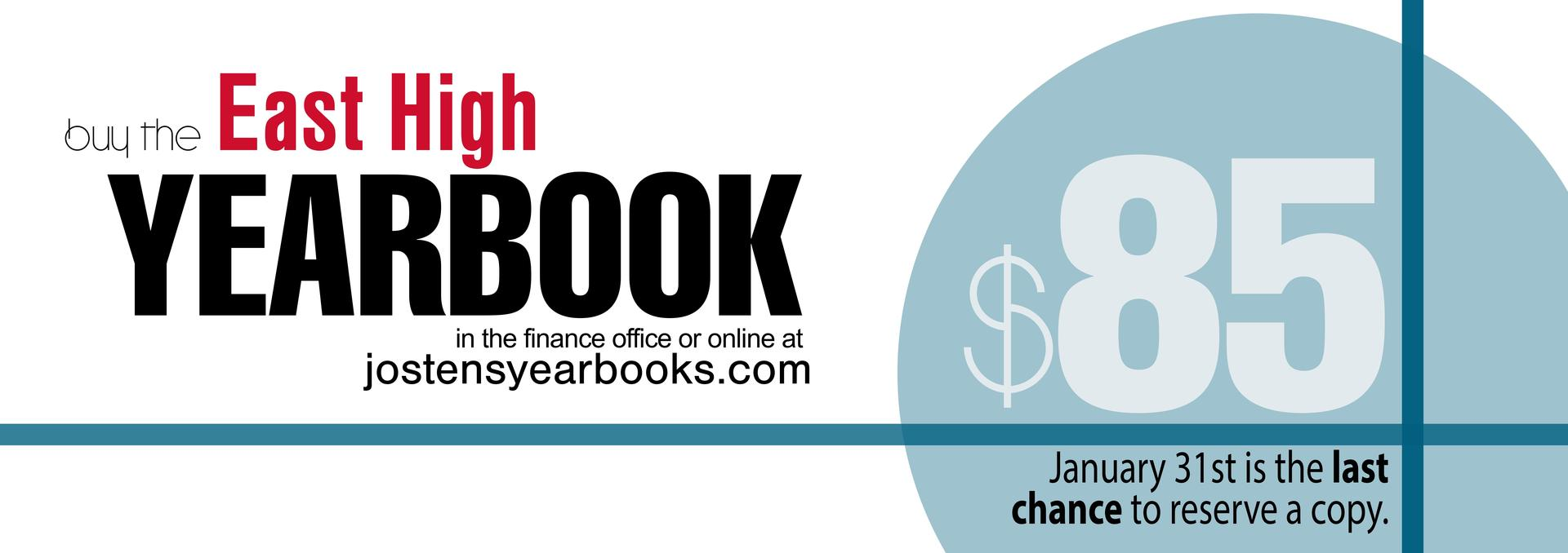 Yearbooks are on sale until Jan 31st