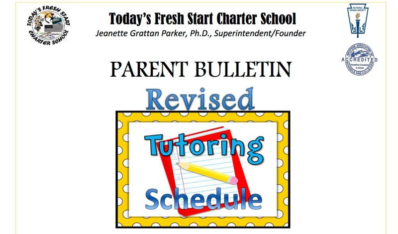 TODAY'S FRESH START CHARTER SCHOOL TUTORING SCHEDULE Featured Photo