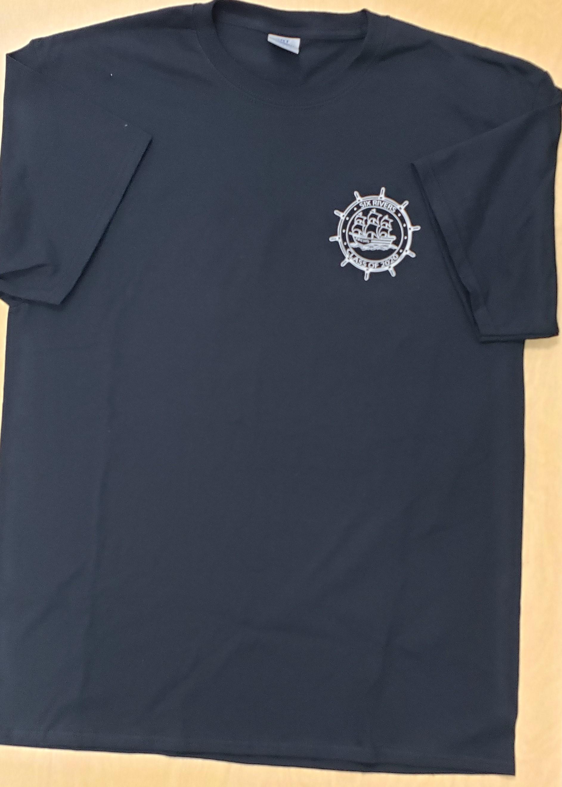 Black Shirt, White Print 'Class of 2020' - Men's Medium - Front Side