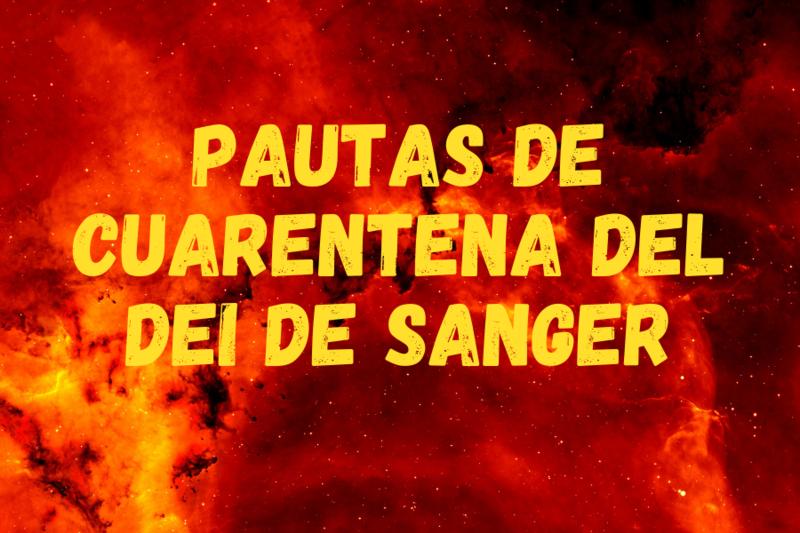 Sanger ISD Quarantine Guidelines in Spanish
