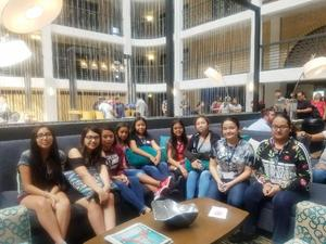 Pictured are MCISD Migrant Students at the Close Up Leadership Conference in Austin. Students are: Angel Chavero, Ximena Herevia, Evelyn Hernandez, Evenlyn Liguez Acuna, Valerie Mendoza, Kassandra Oveido Ramos, Lizzeth Pena, Valerie Ramirez, Maria Rangel, and Rosalinda Sarmiento-Aguilar.