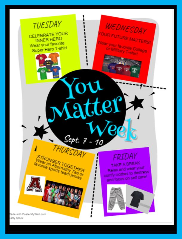 You Matter Week: T-Shirt Days Featured Photo