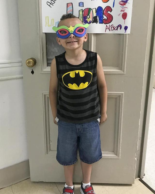 Camper during Super Hero Week