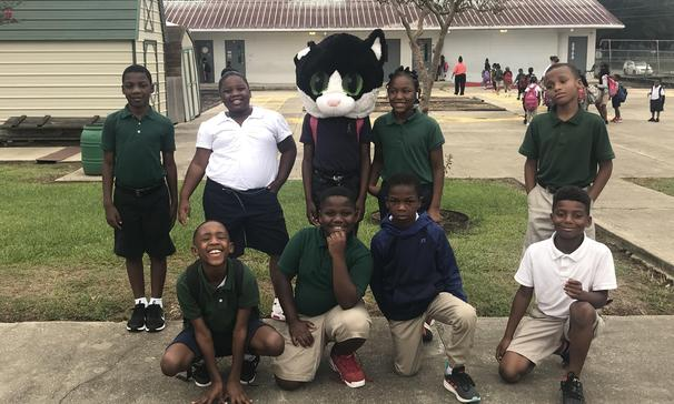 Mrs. Taylor and Mrs. Thompson's class at South Street Elementary won the attendance top cat award for the week. Dalashia J. is this week's student of the week.