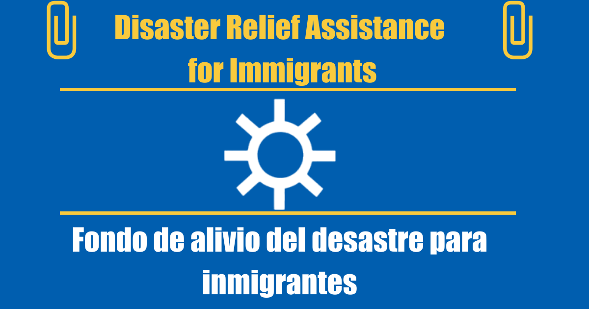 relief assistance for immigrants