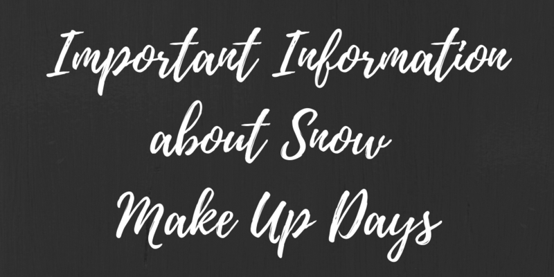 Important Information About Snow Make-Up Days Thumbnail Image