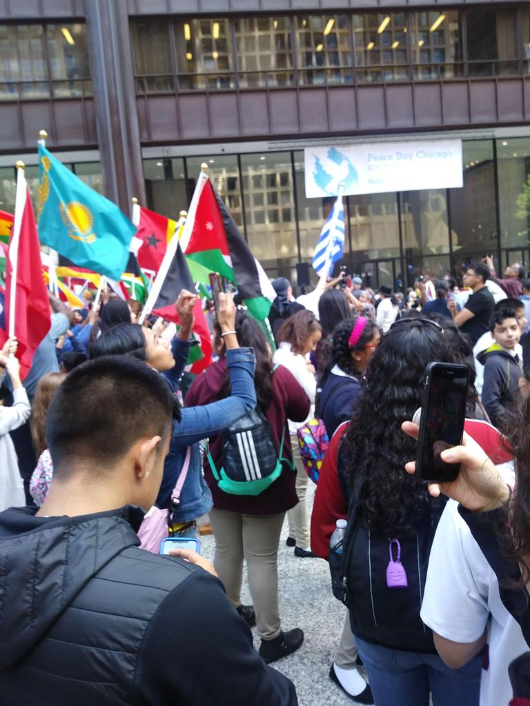Chicago Peace Day, September 23, 2019 in Daley Plaza