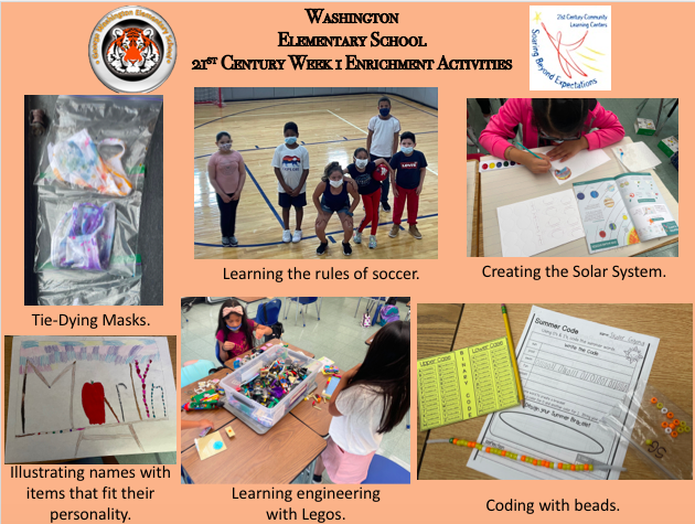 Enrichment activities collage