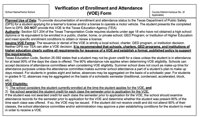 Verification of Enrollment and Attendance; New student enrollment information Featured Photo