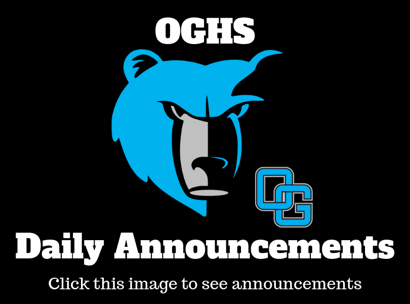 OGHS Daily Announcements