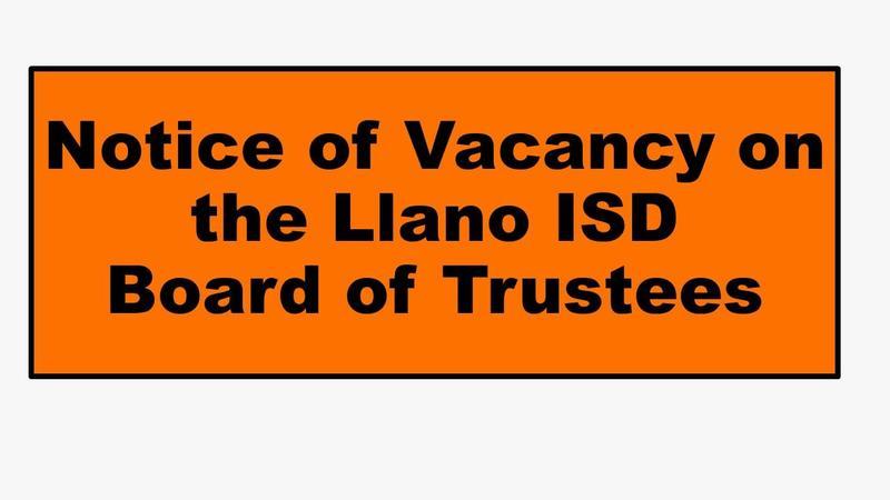 Notice of Vacancy on LISD School Board