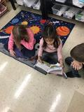 Students prepare for readers theater