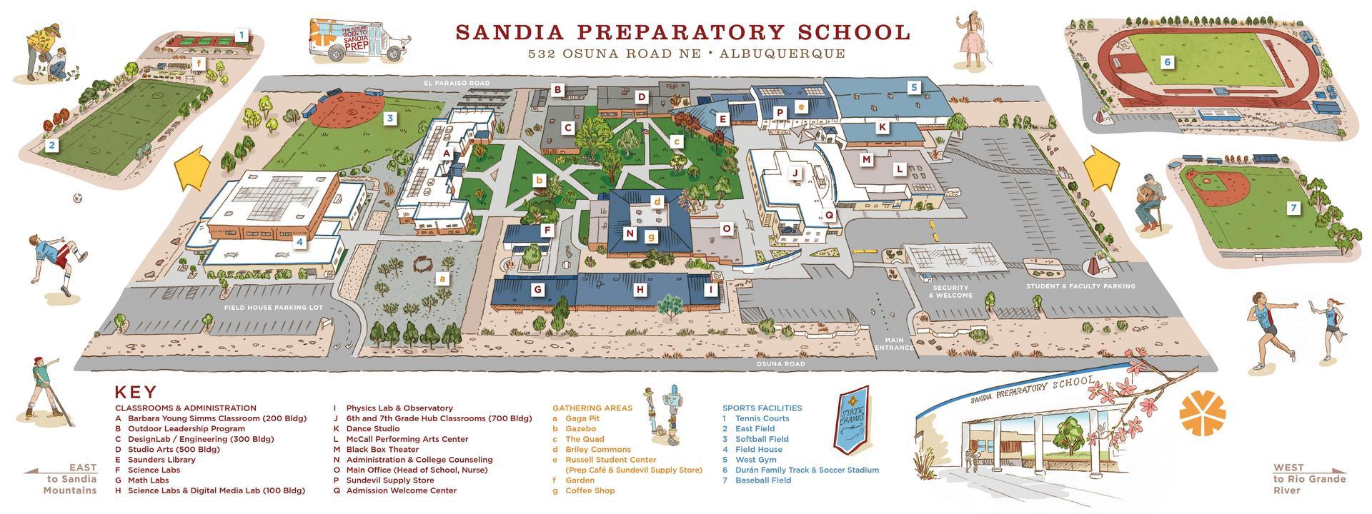 Campus Map Sketch