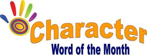 character word of the month logo