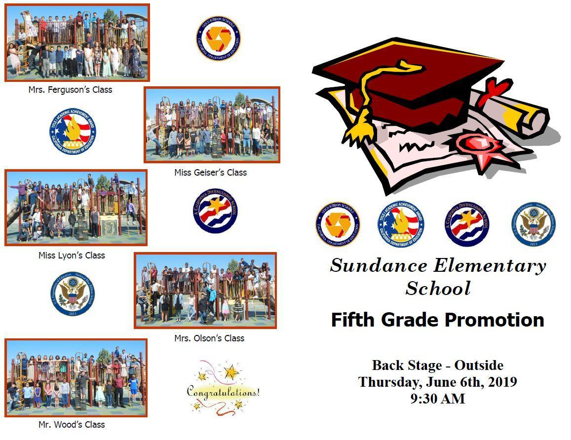 5th Grade Promotion Program cover