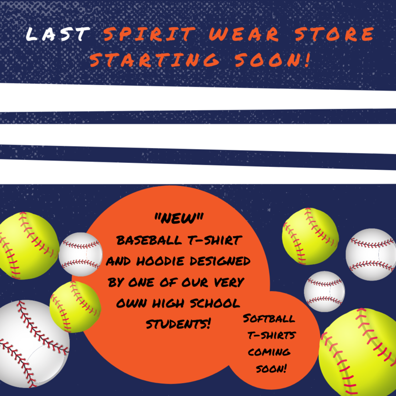 Last Spirit Wear store for the school year! Thumbnail Image