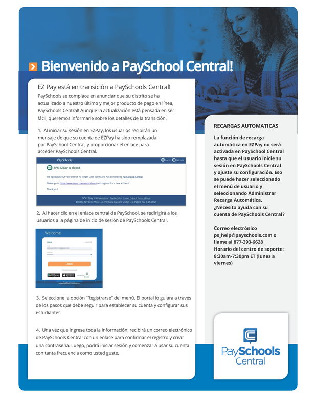 spanish Paychools central flyer