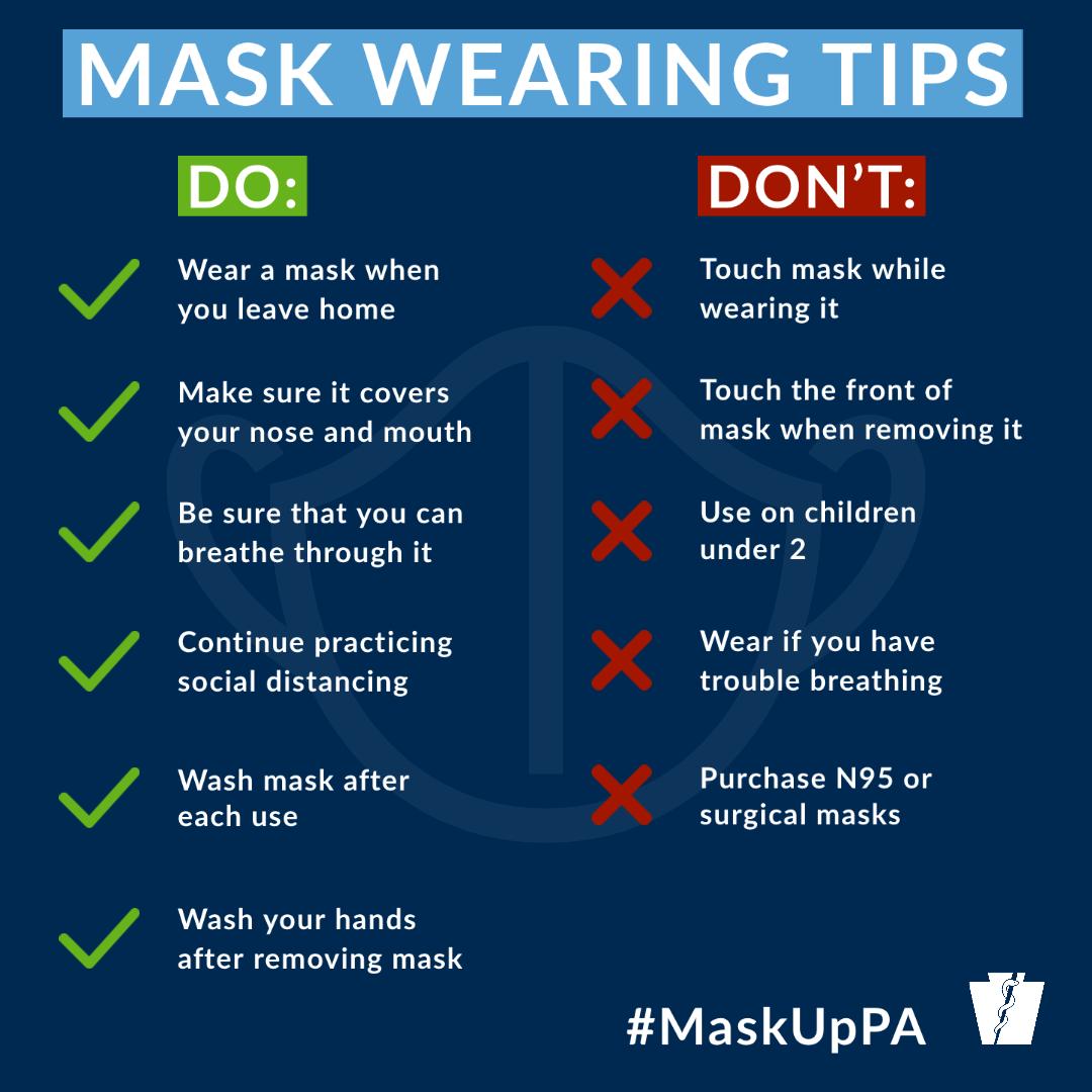 Masks dos and don'ts