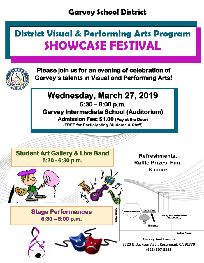 VAPA Showcase Festival - March 27, 2019