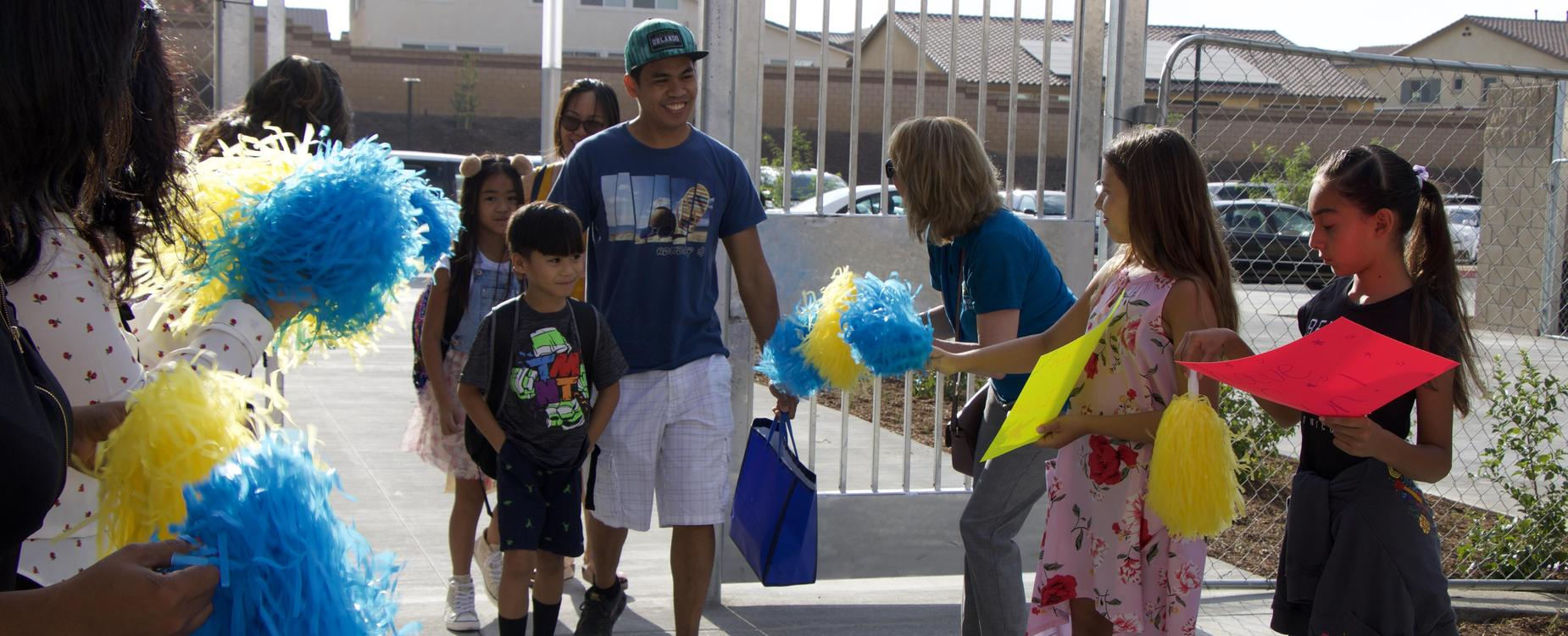 Students welcomed to school