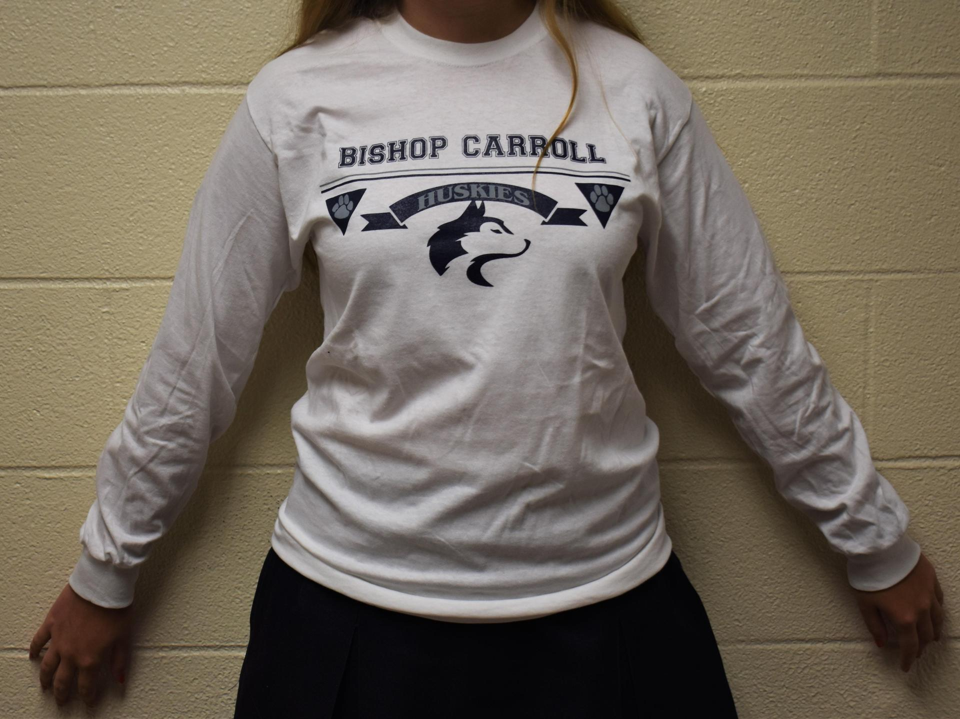 White long sleeve cotton t