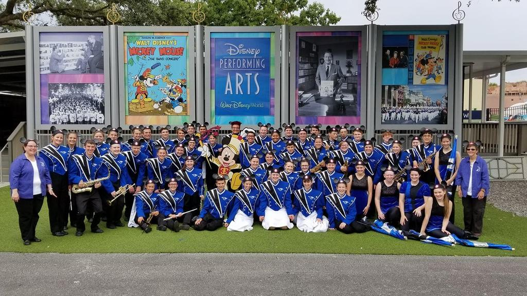 PORTA HS Band pictured at DisneyWorld