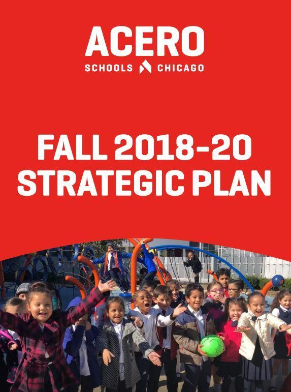Image of Acero Schools' strategic plan over