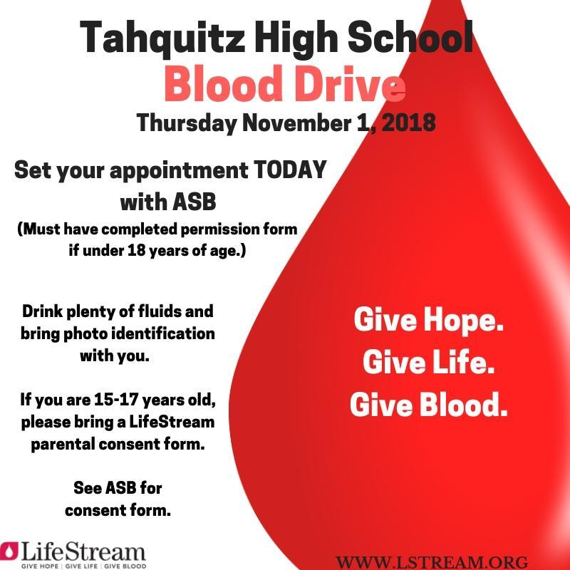 Tahquitz High School Blood Drive