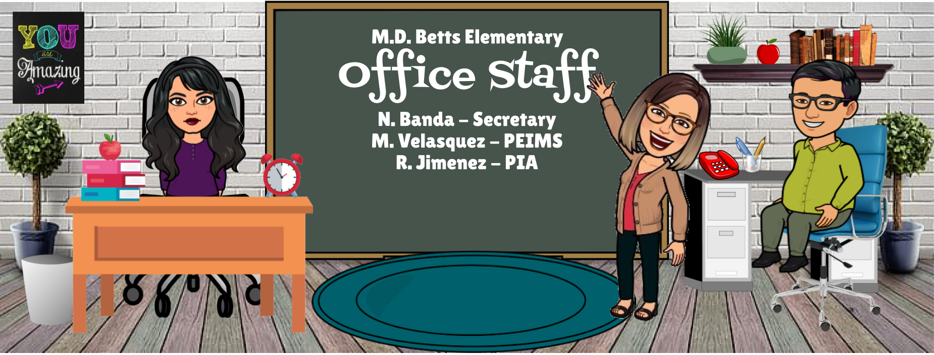 Image of Bitmoji Staff - Office Staff