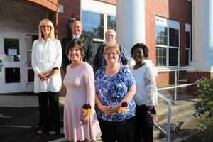 Pictured are the 2019 retirees from Lexington County School District Three.  Top row from left to right: Sherri Owings, Raymond Davis, Teddy Higgins.  Front row from left to right:  Missy O'Dell, Linda Besse, Mary Foulks. Not pictured: Barbara Gortman and Cathy Watson.