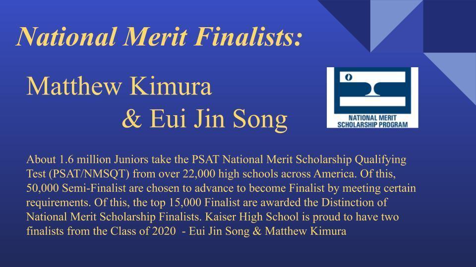 National merit scholar