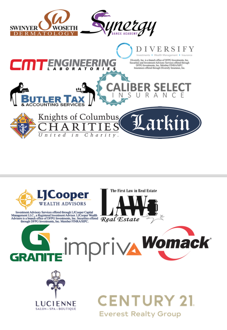 FAIRWAY TO HEAVEN GOLF OUTING:   THANK YOU TO OUR PLATINUM LEVEL SPONSORS WHO HELPED US RAISE OVER  $18,000!!!!!!! Image