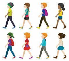 picture of students walking -
