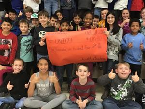 students raised money for UNICEF