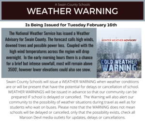Weather Warning 2/16/2021