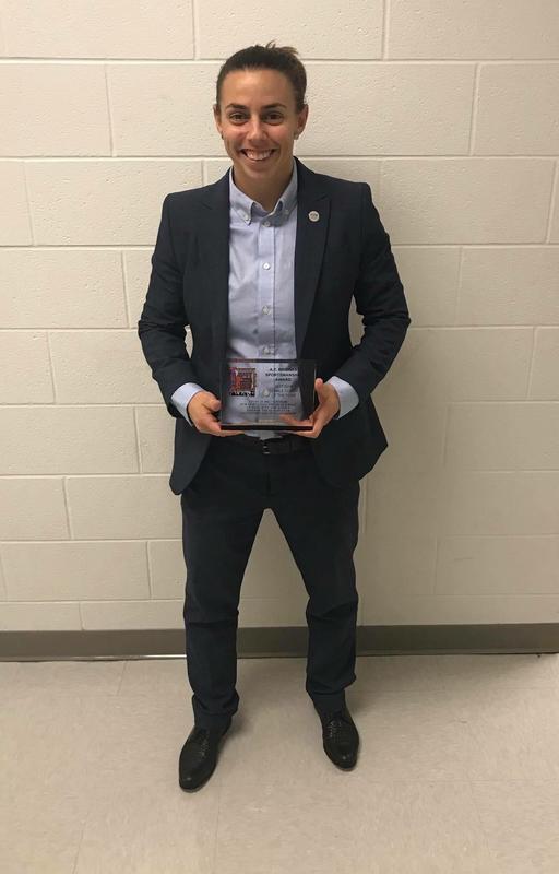 Coach Mayo Receives Award Thumbnail Image