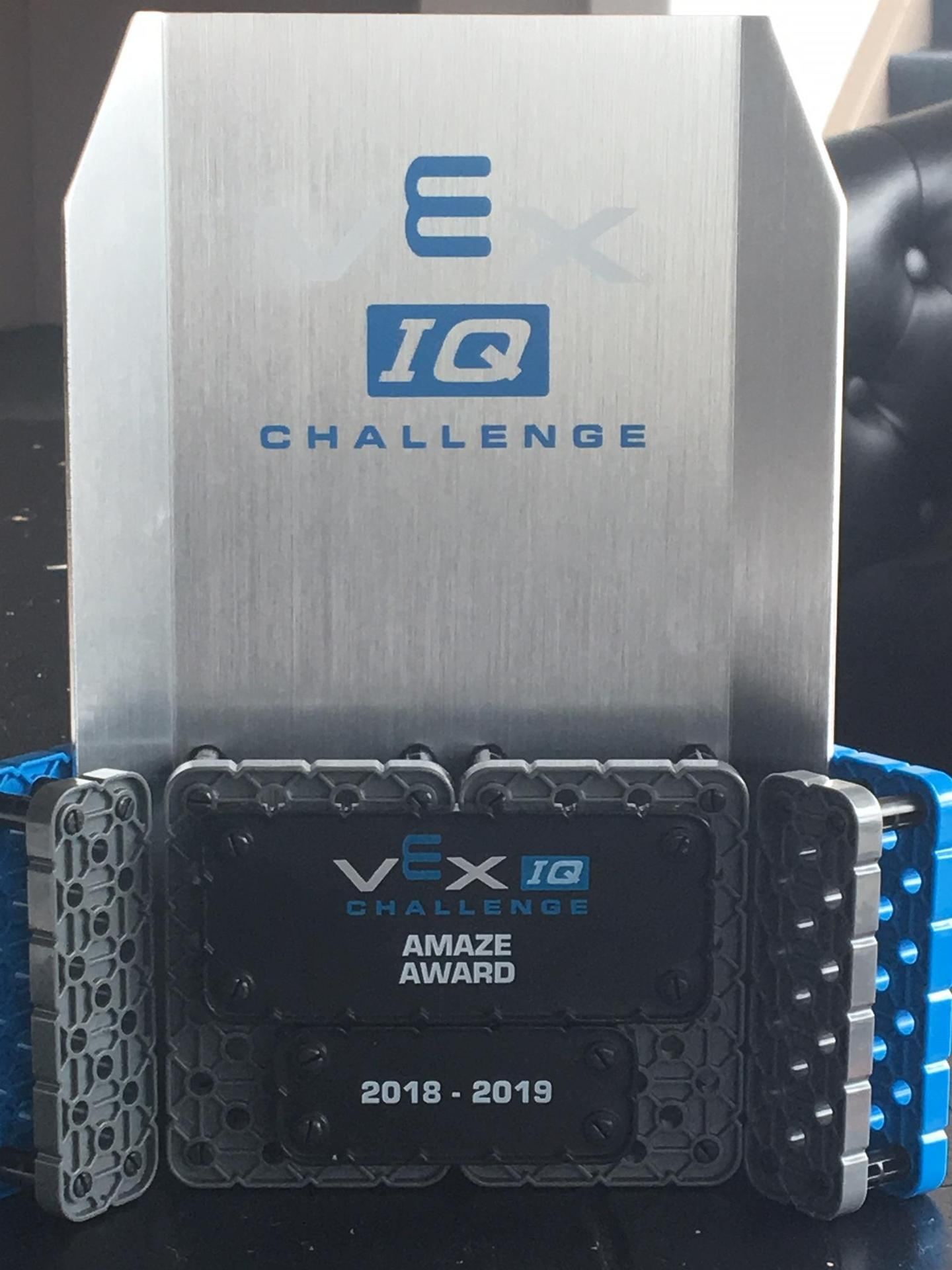 Vex IQ Challenge Robotics Competition Award
