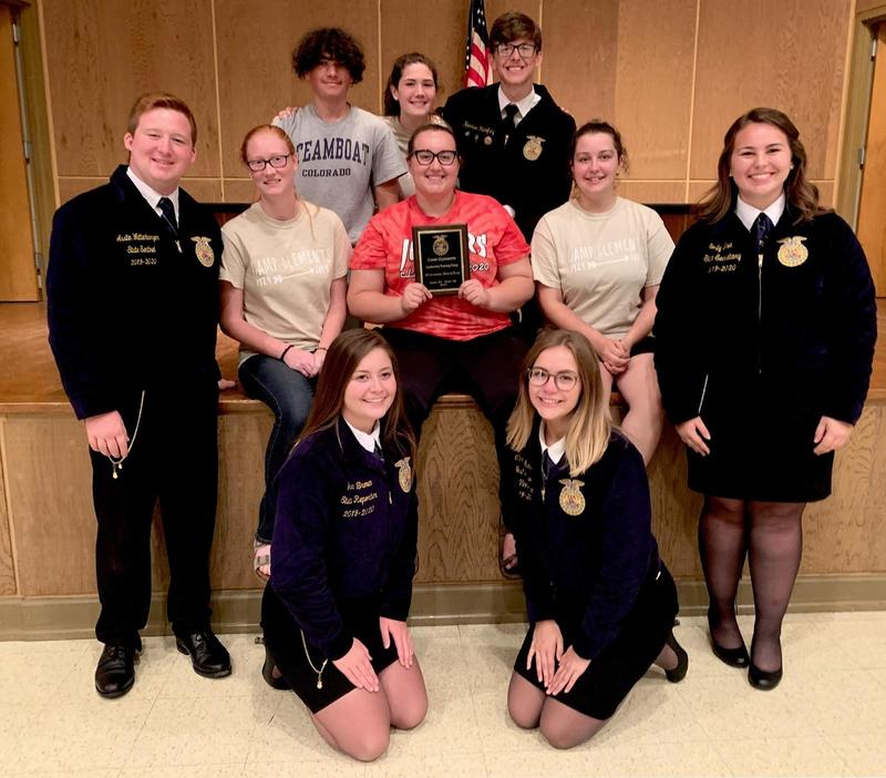 STEWARTS CREEK WINS OUTSTANDING OFFICER TEAM AT STATE FFA CAMP Thumbnail Image