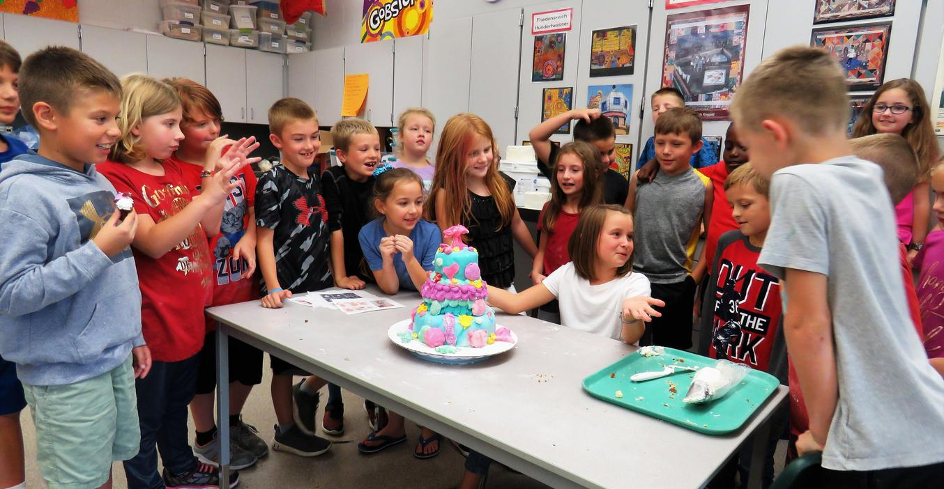 Lee students created this beautiful cake as part of an art STEAM project.