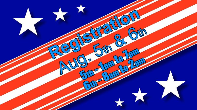 Registration Aug. 5th & 6th