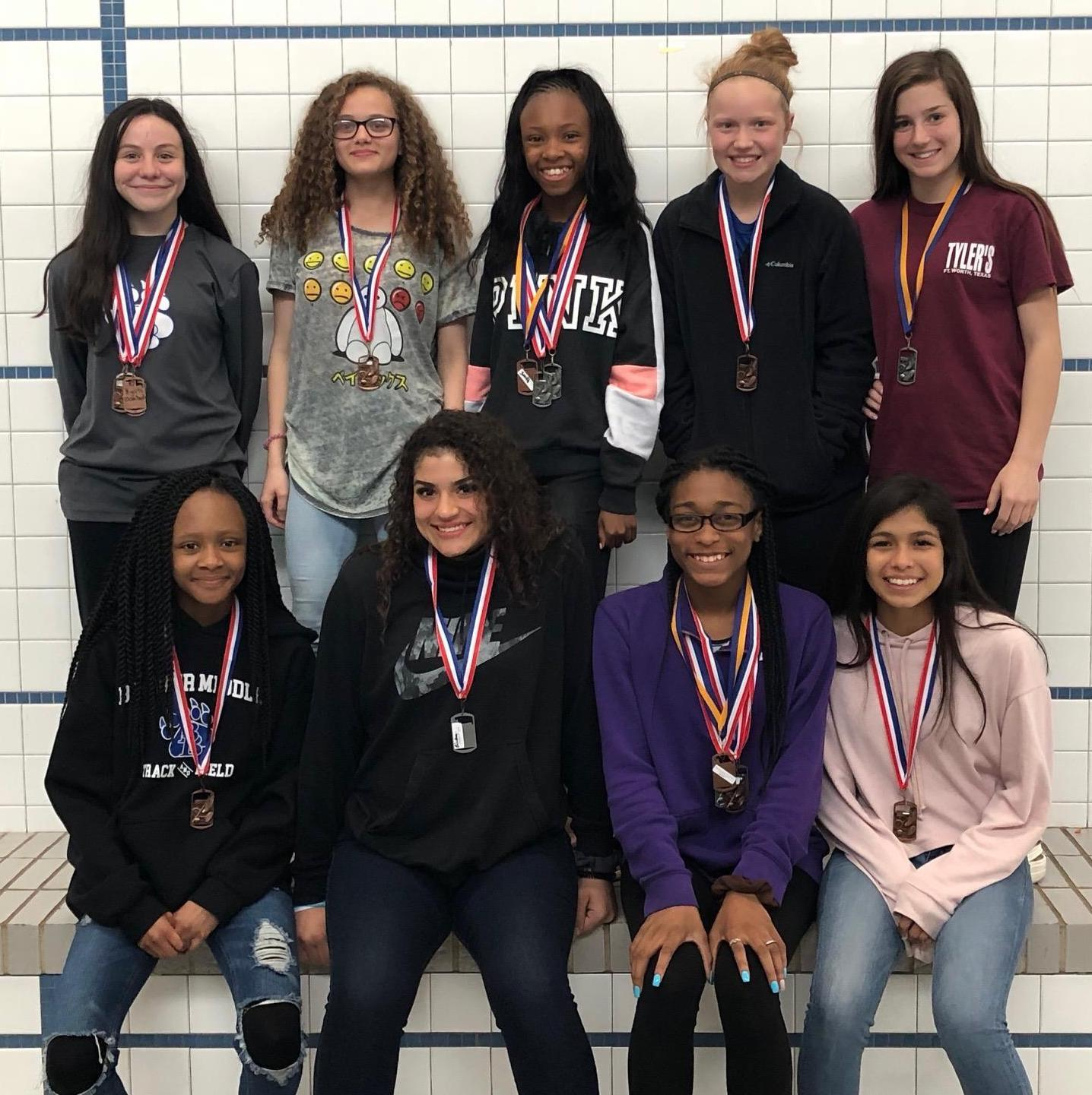 Ten Brewer Middle School girls will advance to the District Track Meet after placing in the top 3 of their events in the Quad County Zone 1 Track Meet.