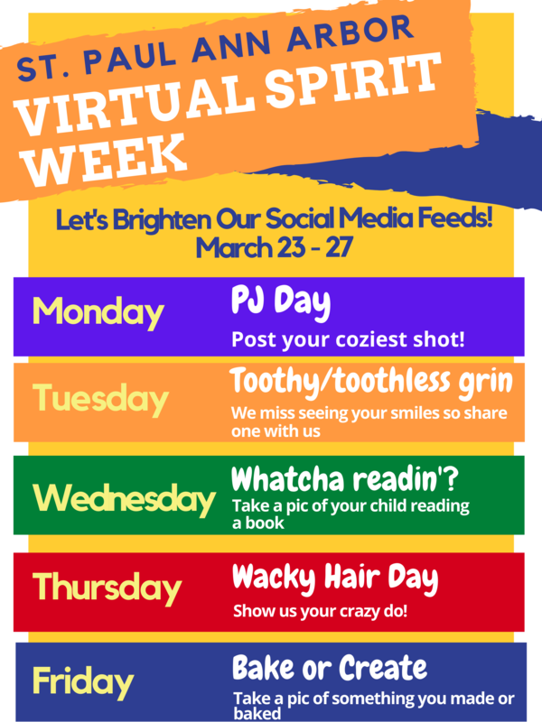 Virtual Spirit Week, March 23-27 Thumbnail Image
