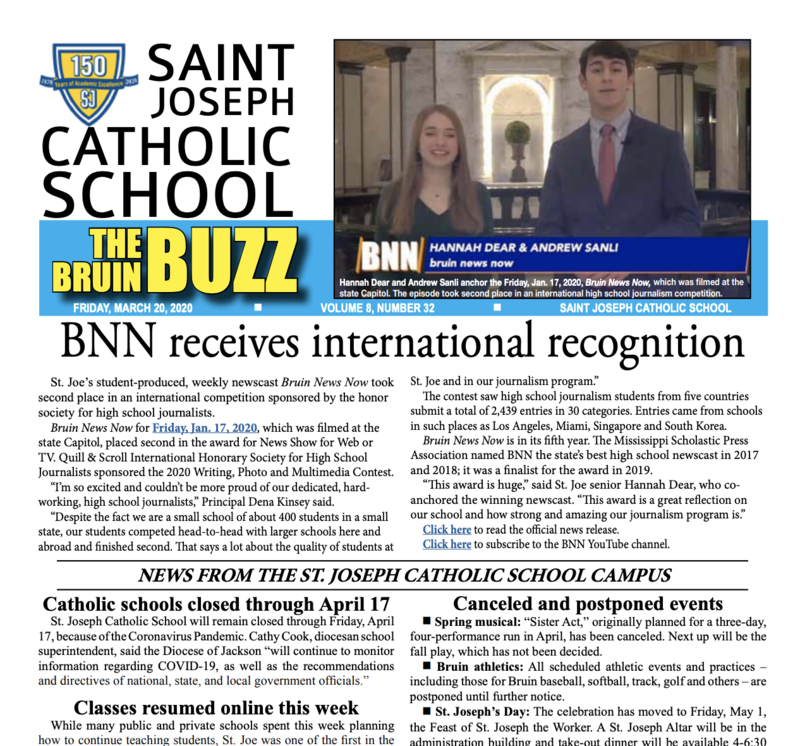 THE BRUIN BUZZ: FRIDAY, MARCH 20, 2020 Featured Photo