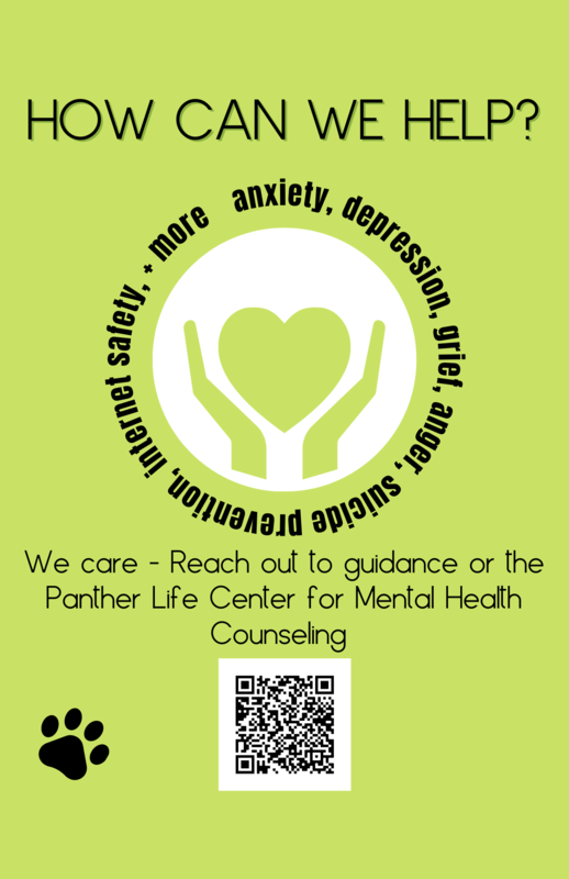 mental health resources available in panther life center