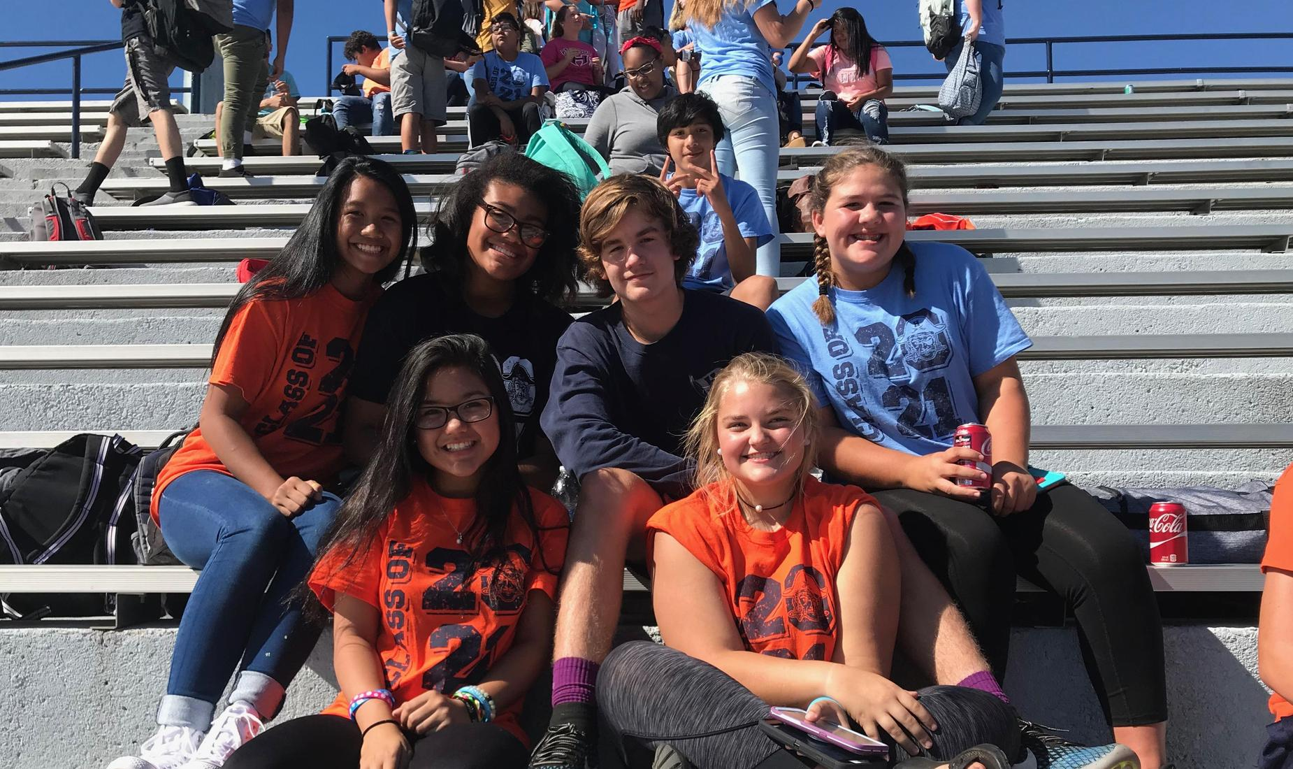 Students in Stadium