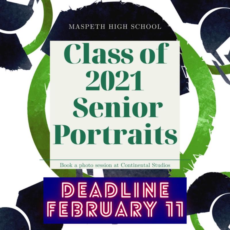 Senior Portrait Deadline