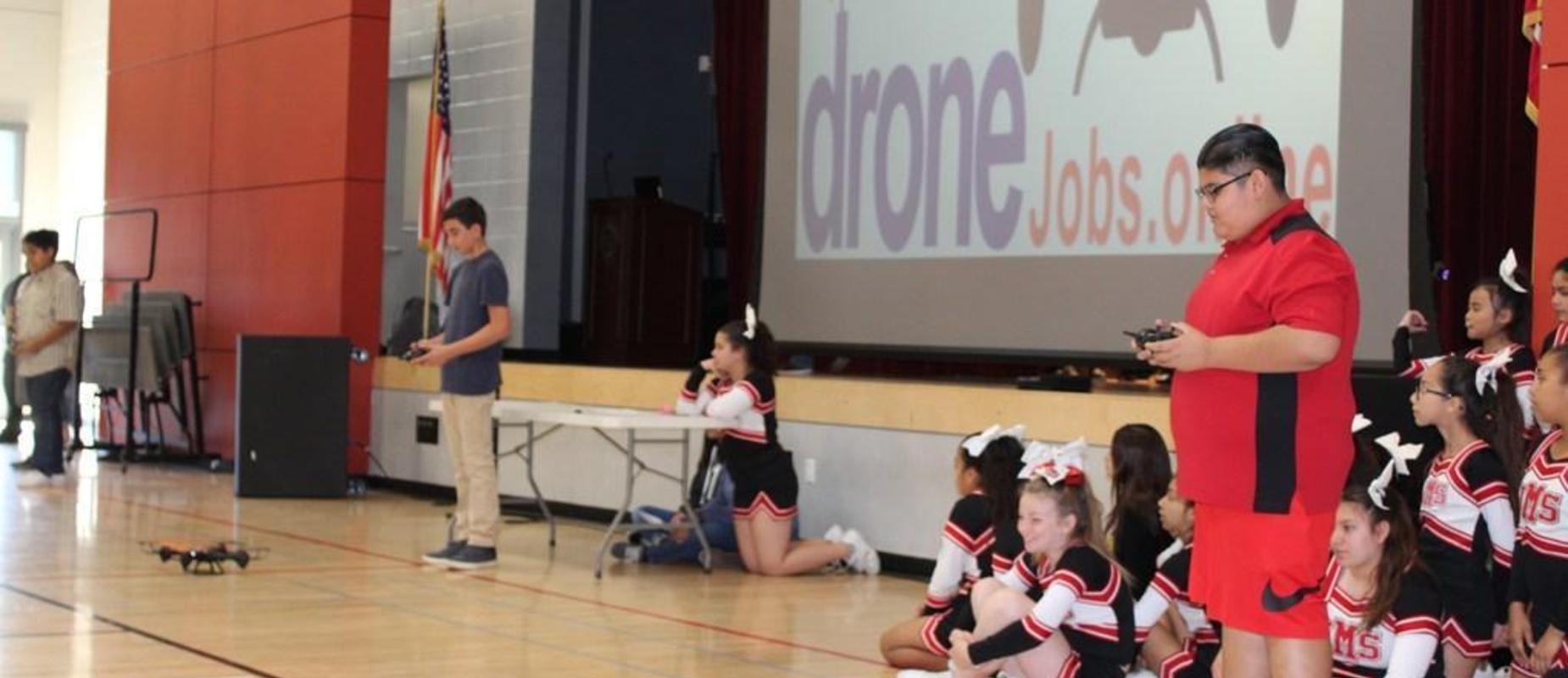 Students are learning Drone Piloting as a career.