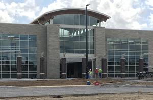 Construction continues at Riverbank Elementary, opening this fall