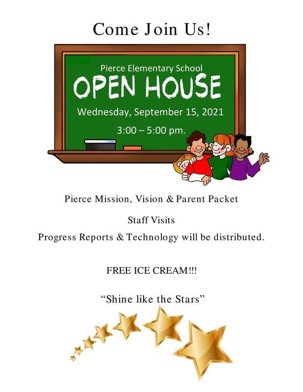 Sept. 15: Pierce Elementary School Open House Featured Photo