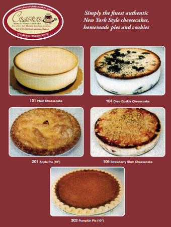 Cheesecake and pie flyer